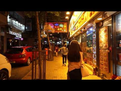 Hong Kong, walking around in Tsim Sha Tsui at night