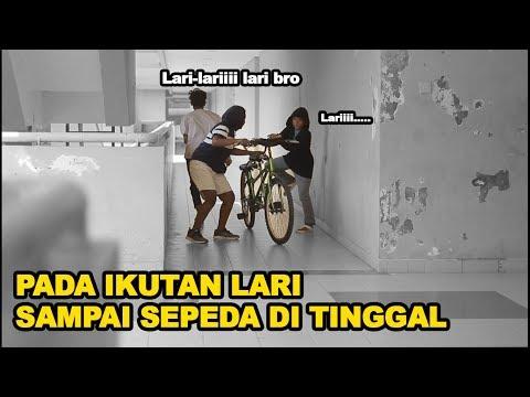 PADA IKUTAN LARI Padahal tidak ada apa-apa 🤣- Prank Indonesia- CUPSTUWERD