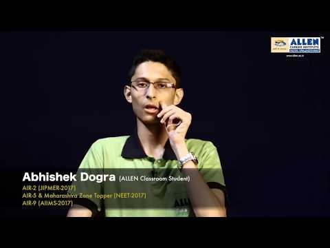 Exam Preparation Tips & Interview - Abhishek Dogra | NEET AIR-5 | AIIMS AIR-9 | ALLEN Kota Coaching