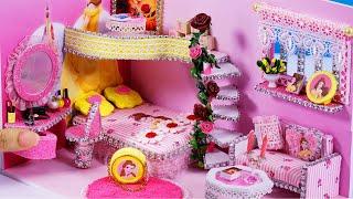 DIY Miniature Dollhouse ~ Belle (Beauty and the Beast) Room Decor , Backpack #62