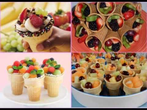 DIY Party food decorating ideas for kids - YouTube