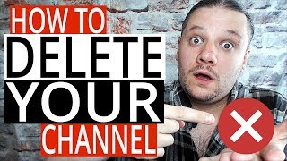 How To Delete A YouTube Channel on PC - Delete Your Channel 2019