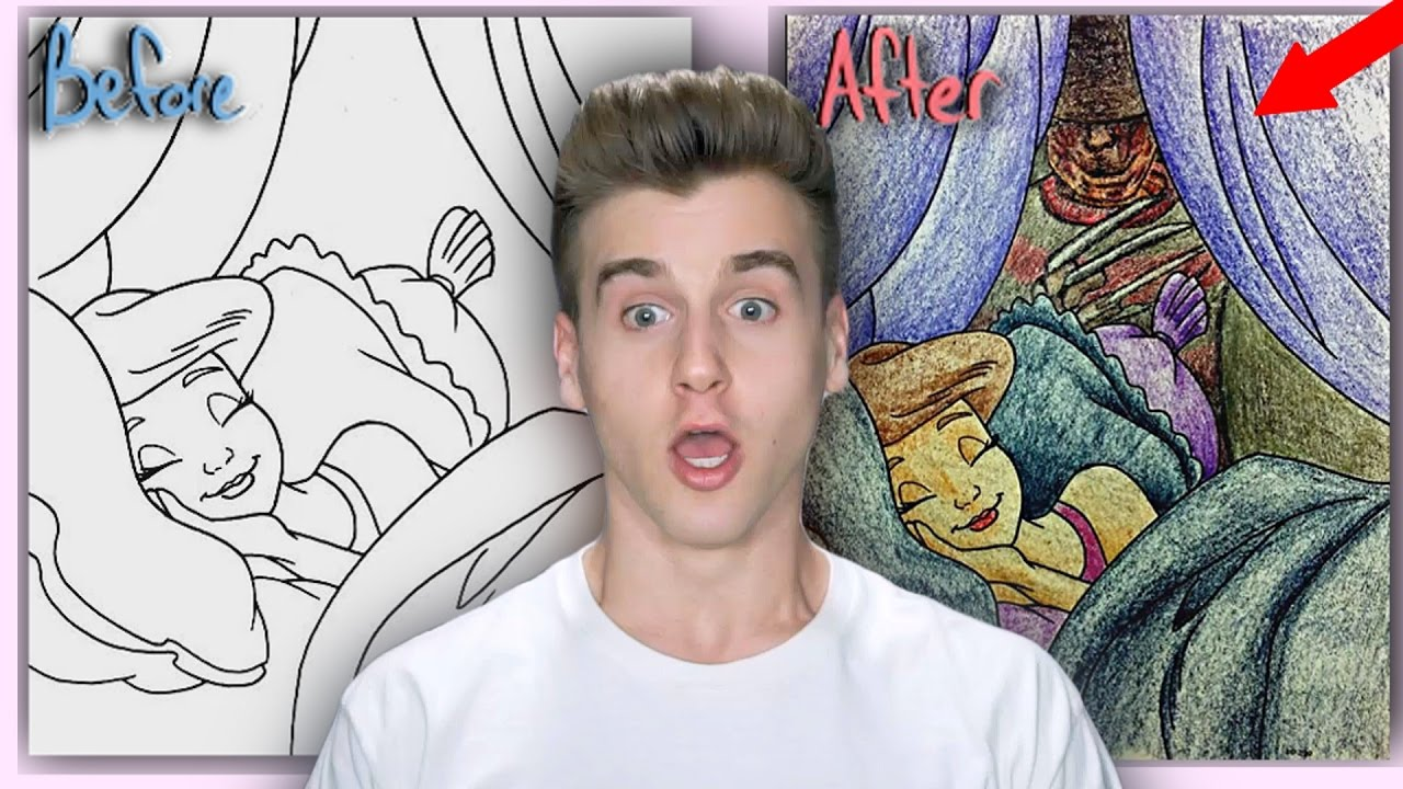 Most Inappropriate Children Coloring Book Drawings! - YouTube