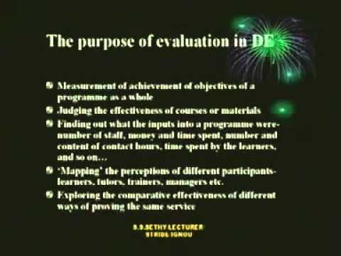 Program Evaluation of Distance Education Its Strategies and Outcome