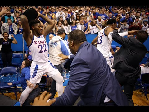 Wild Fight Breaks Out At The End Of Kansas-KSU Game