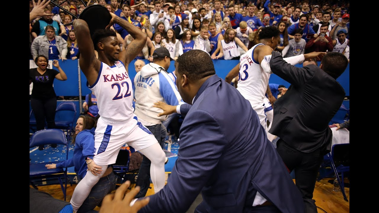 Wild brawl breaks out at Kansas-Kansas State college basketball ...