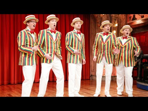 "Thumbnail: The Ragtime Gals: ""SexyBack"" (w/ Jimmy Fallon & Justin Timberlake) (Late Night with Jimmy Fallon)"