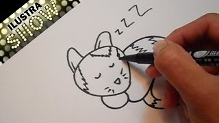 Dibujar un Gato Dormido Tutorial ILUSTRA SHOW