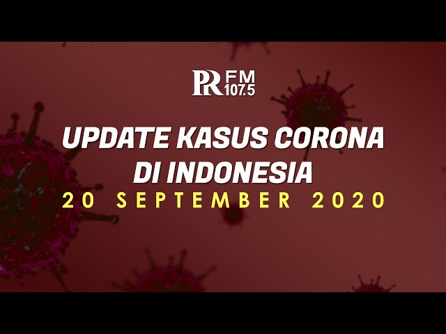 UPDATE Kasus Corona Indonesia 20 September 2020