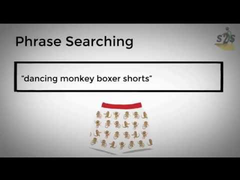 Advanced search using phrases