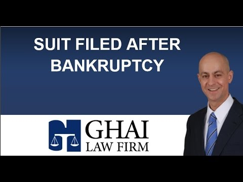 Complaints and Concerns Over Filed Suits After Bankruptcy