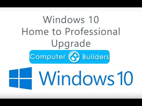 Windows 10 Home to Professional Upgrade