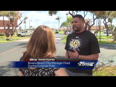 Riviera Beach city council members fire city manager