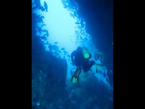 Swim through - cocos island scuba