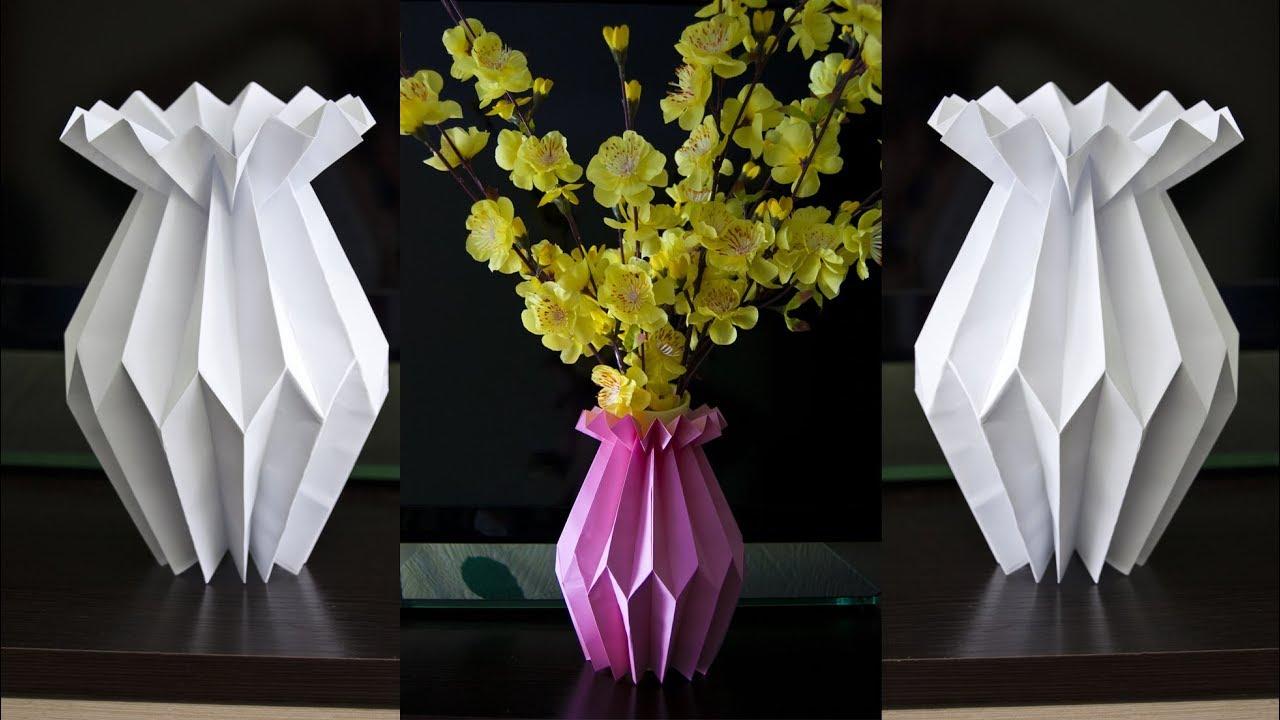 How to make a paper flower vase - DIY Paper Craft - Home decoration Flower Vase Diy Ideas on diy furniture ideas, diy art ideas, diy frame ideas, diy gold vase, diy painting ideas, diy lighting ideas, diy box ideas, diy floral ideas, diy paper flowers, diy hat rack ideas, diy planter ideas, diy pottery ideas, diy tables ideas, diy tray ideas, diy decorations ideas, diy painted vases, diy garden ideas, diy mirror ideas, diy jewelry ideas,