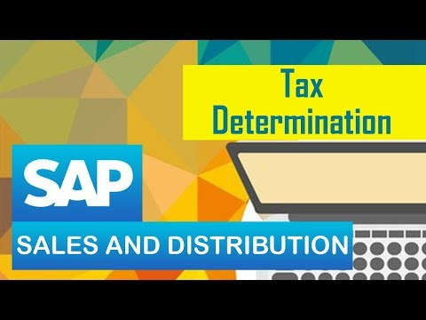 SAP SD | Tax Determination | SAP Sales & Distribution Module