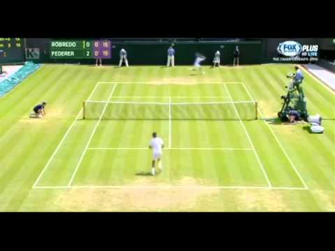 Highlights Federer vs Tommy Robredo - Wimbledon 2014