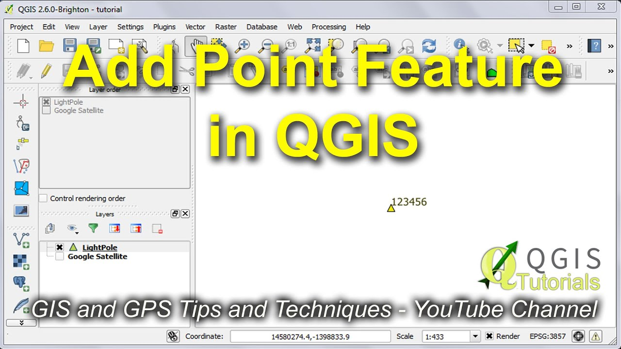 Create, Modify and Label a Point Feature in QGIS