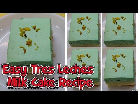 easy-tres-leches-milk-cake-recipe-|-pistachio-flavour-cake-recipe-|-tabassum's-kitchen