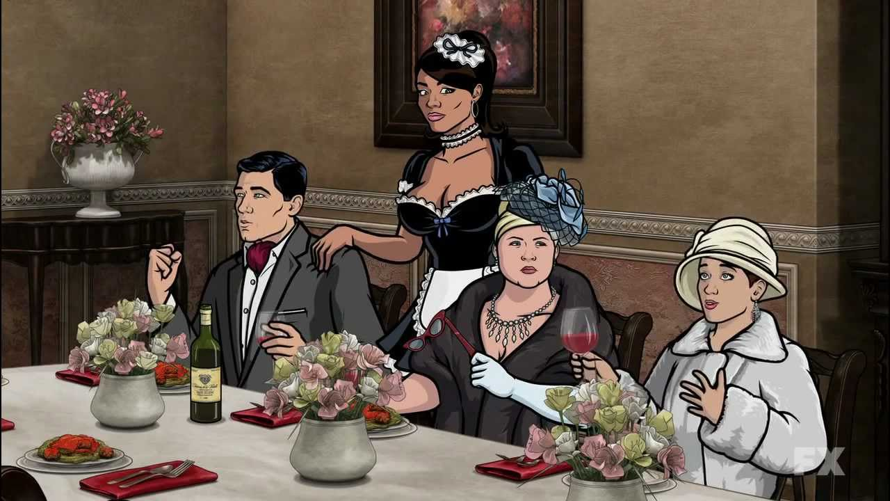 archer - elegant dinner party (720p) - youtube