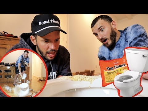 Fixing a Toilet with Ramen Noodles! (DIY FAIL)