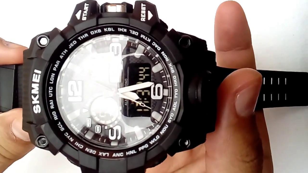 9fb243547a0 Relógio De Pulso Importado Masculino Esportivo Skmei 1155 Prova D água  Digital Barato Promoção