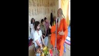 Interaction on Yoga between Swami Chandresh and Argentinian Friend
