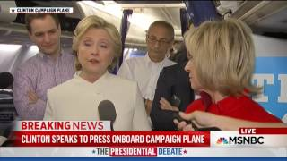 Clinton Ends Press Conference After Question About Undercover Videos of Democratic Operatives