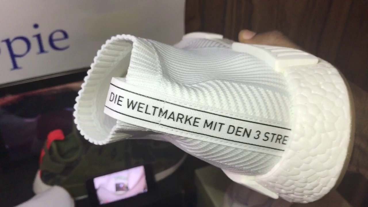 Adidas NMD City Sock Primeknit Unboxing Review Glow Test