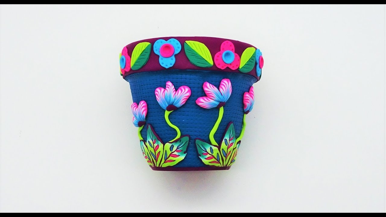 Decorating a Flower Pot with Polymer Clay, a Tutorial ...