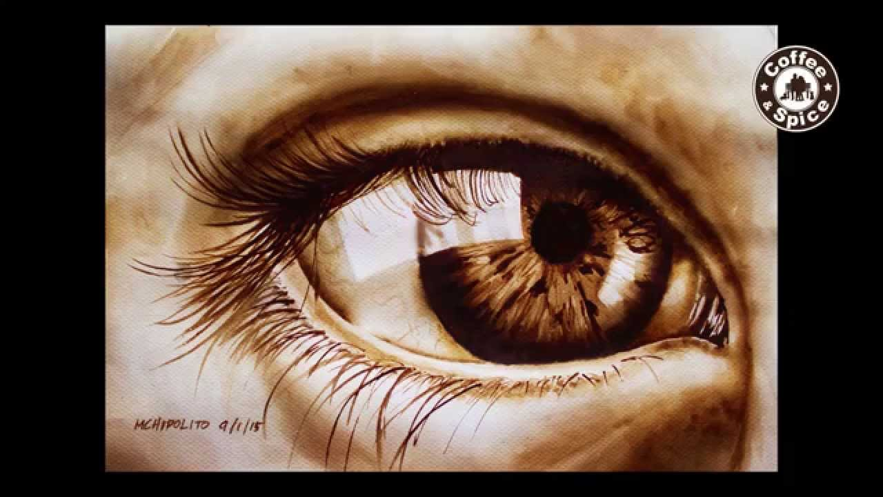 coffee painting tutorial how to paint a realistic eye by
