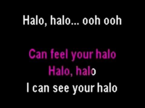 Beyonce - Halo (Piano instrumental with lyrics)
