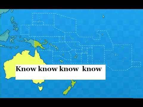 All States Territories Of Oceania PronunciationCapital - Pronunciation of our us map