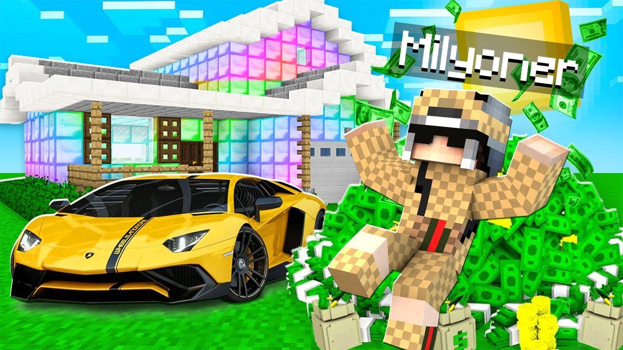 Download 1 GÜNLÜĞÜNE MİLYONER OLDUM 🤑 - Minecraft