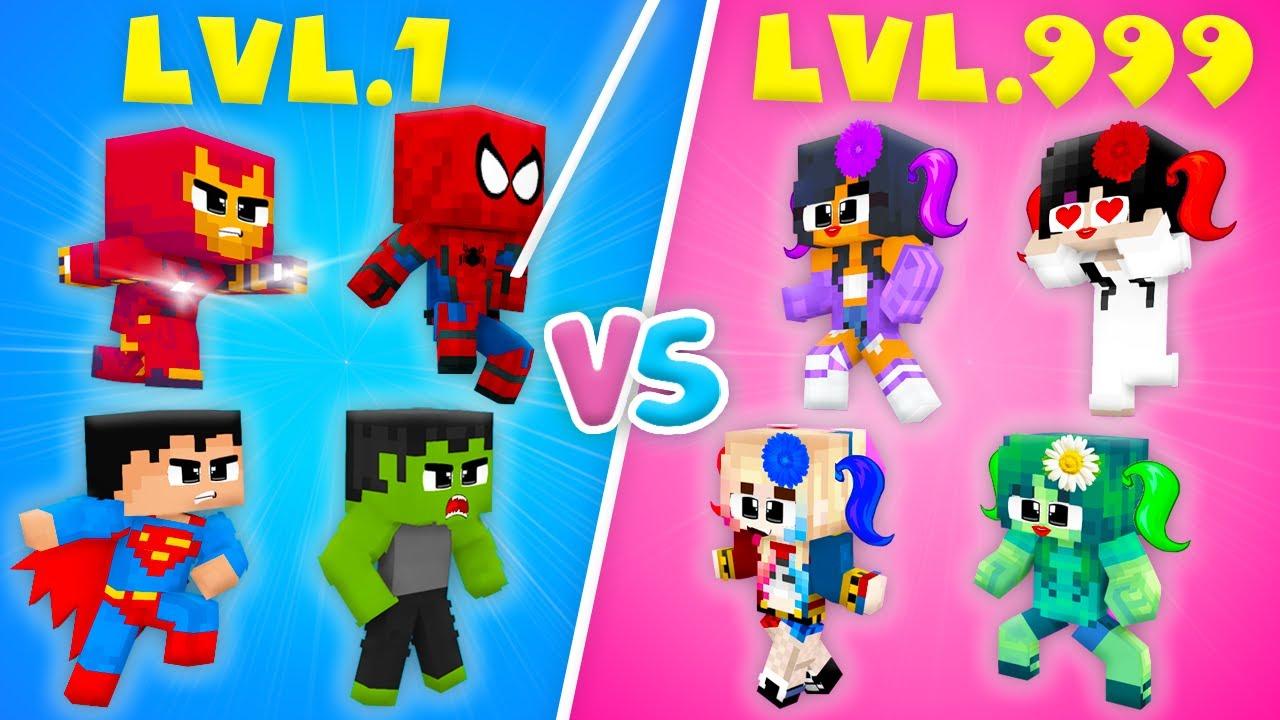 Monster School : LOVE CURSE CROOK vs BOSS SUPERHEROES Hulk Ironman Boys vs Girls Zombie - Animation
