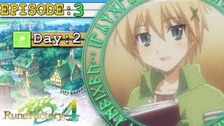 Rune Factory 4 Ep 3: Eliza The Request Box -Meeting Townsfolk-