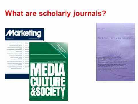 What are Scholarly and Peer-Reviewed Articles?