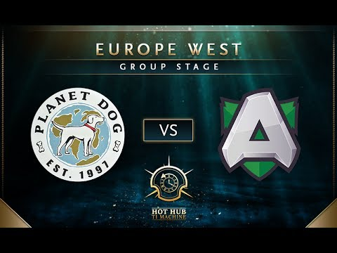 Planet Dog vs Alliance - TI7: EU Regional Qualifiers Group Stage - @LD @tsunami