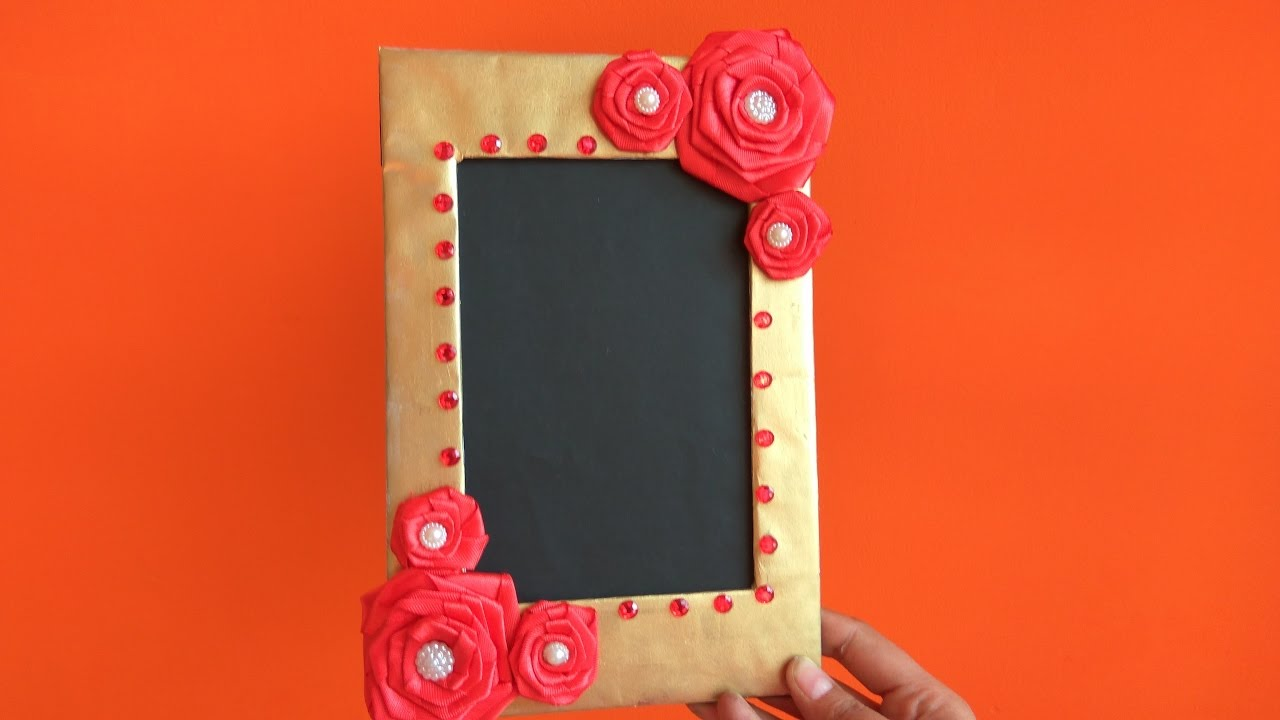 Diy how to make photo frame at home cardboard photo frame best diy how to make photo frame at home cardboard photo frame best out of waste solutioingenieria Images