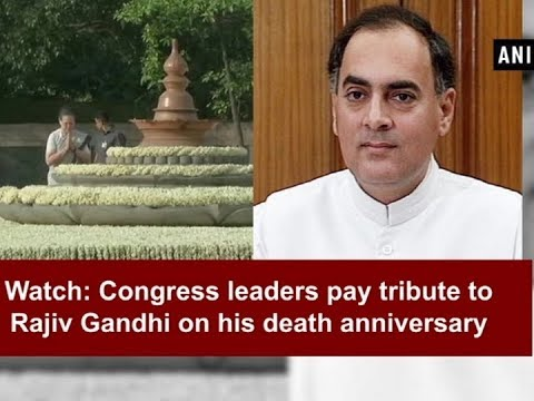 Watch: Congress leaders pay tribute to Rajiv Gandhi on his death anniversary - ANI News