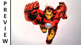 marvel iron draw avengers drawing comics facedrawer
