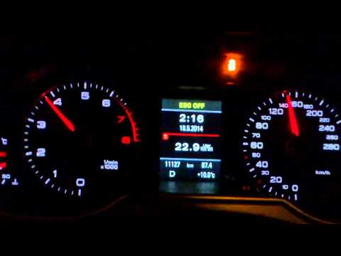 Audi a4 avant 1.8 tfsi multitronic 2014 120hp 230nm  0-100 0-170 acceleration