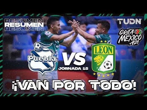 Resumen y gol   Puebla vs León   Grita México AP2021 - J15   TUDN