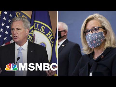 Axios: Kevin McCarthy Caught Criticizing Liz Cheney On Hot Mic | Katy Tur | MSNBC
