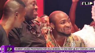 DAVIDO SETTLES FIGHT WITH DELE MOMODU PROSTRATES SINGS  2017 OVATION  CAROL