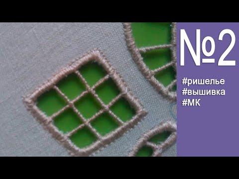 Вышивка ришелье на швейной машинке для начинающих пошагово