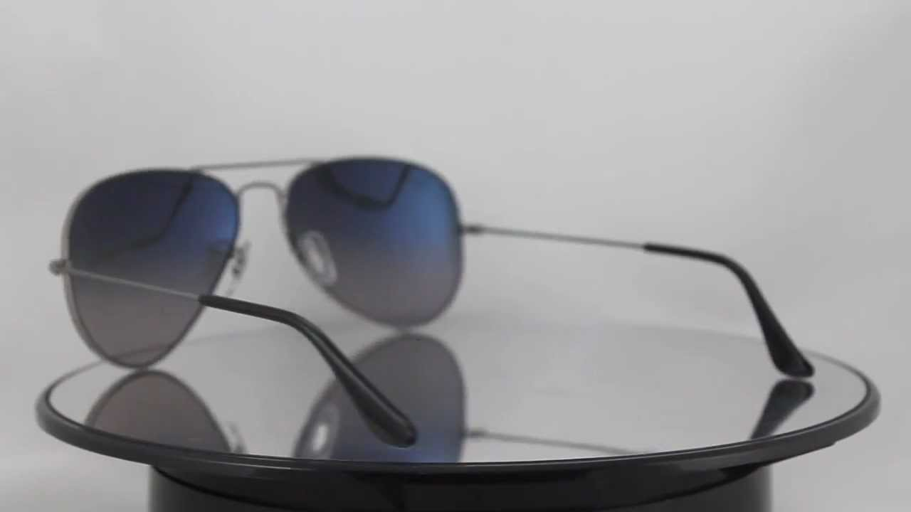 950a4b10c4d11f Ray-Ban RB3025 004 78 Aviator Large Metal - YouTube
