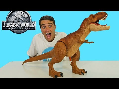 Jurassic World Super Colossal Tyrannosaurus Rex Unboxing  ! || Toy Review || Konas2002