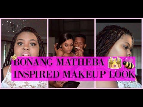 BONANG MATEBA MAKEUP INSPIRED LOOK | LETHABO MOKONE