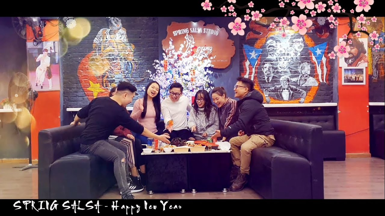 Happy New Year 2020 @ SPRING SALSA STUDIO (Hanoi, Vietnam)